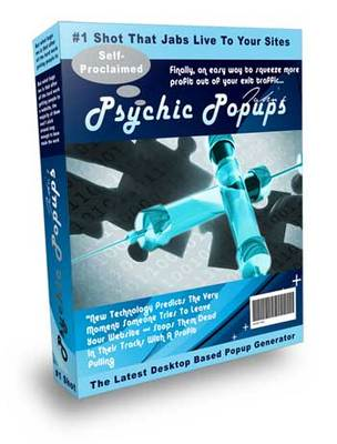 Product picture Psychic Pop software Pop up box to improve your conversion